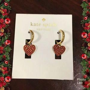 Kate Spade Dangle Heart Pave Earrings